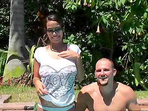Chesty Latina Is Ready For A Big Fat Hard-on Fuck In the Pool