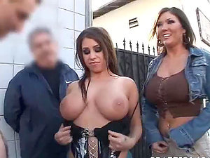 Very Big-chested Cocksluts Having Fucky-fucky In Public
