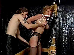 Subjugated Blonde Mummy Gets Tantalized in a Hook-up Dungeon space