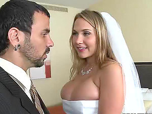 Very Buxomy Bride Alanah Rae Gets Fucked after the Wedding