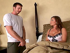 Gorgeous Dark-haired Cougar In Underwear Devon Lee Fucked By a Big Manstick