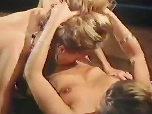 Antique Lesbo Romp With Horny Blondes And Their hairy Twats