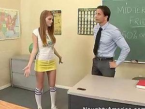 Mischievous Bookworm Getting Her Cock-squeezing Smooth-shaven Cunt Fucked By Her Schoolteacher