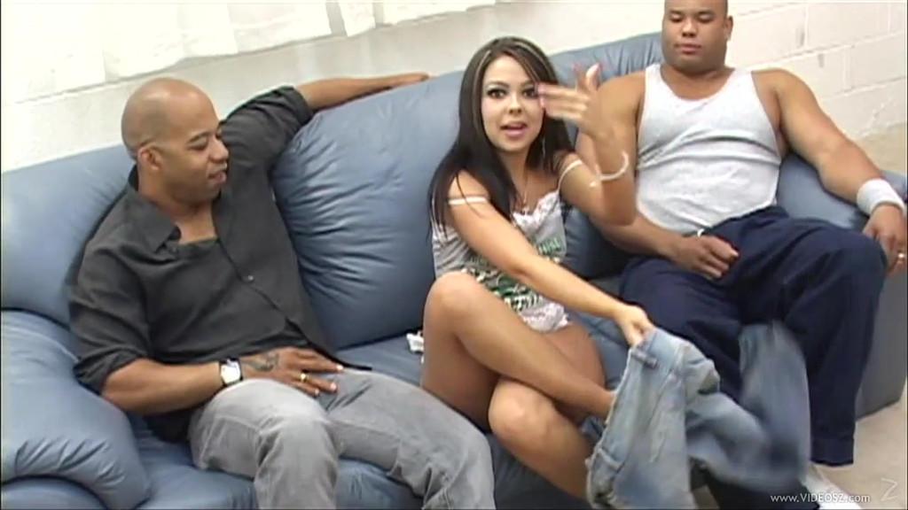 Sexy girls threesome anal sex