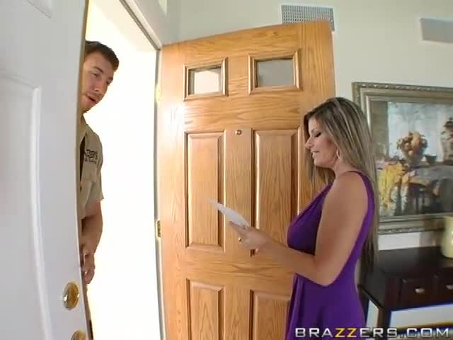 Milf fucks postman