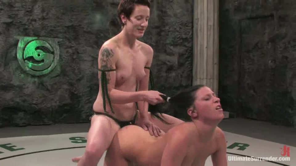 Ariel X Gets Fiercely Fucked And Bashed By Short-Haired Bitch Nina @ PORN+